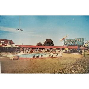 Presque Isle Motel Erie PA a AAA Postcard Posted